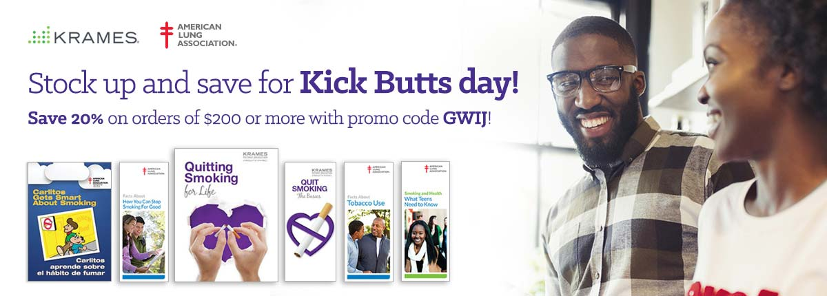 Stock up and save for Kick Butts day!