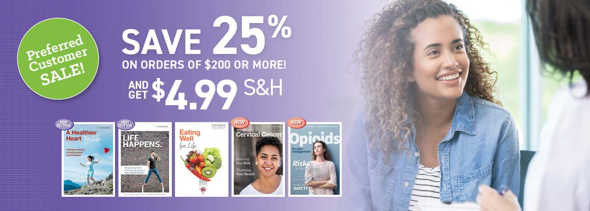 Preferred Customer Sale: Save 25% on orders of $200 or more!