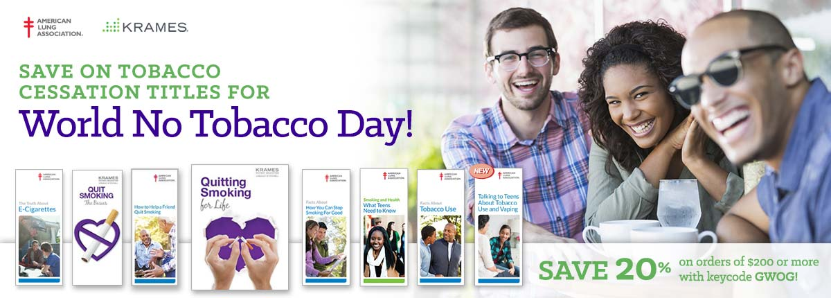 Save on tobacco Cessation titles for World No Tobacco Day!